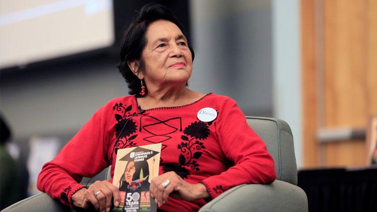 Civil rights pioneer Dolores Huerta at Cal State LA.